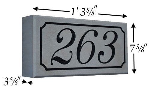 Cast Stone Address Stone Photo AD 102