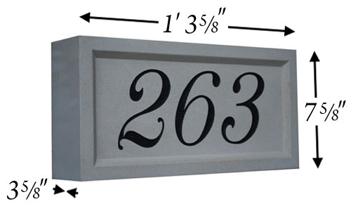 Cast Stone Address Stone Photo AD 103