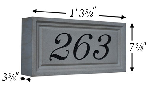 Cast Stone Address Stone Photo AD 104