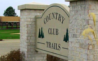 Country Club Trails Sign